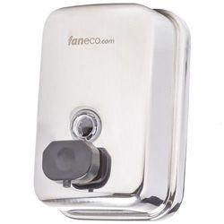 Dozownik do mydła w płynie 0,5 litra DUO Faneco stal szlachetna połysk