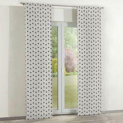 zasłony panelowe 2 szt., czarno-szare romby na białym tle, 60 × 260 cm, geometric marki Dekoria