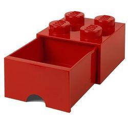 Pojemnik lego 4 z szufladą czerwony - lego pojemniki marki Room copenhagen