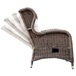 Miloo Fotel ogrodowy z regulacją oparcia, rozkładany bilbao