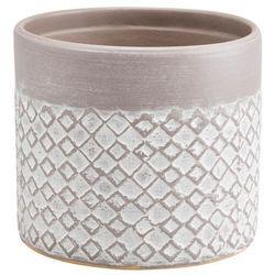 Goodhome Doniczka ceramiczna ozdobna 10,5 cm driftwo