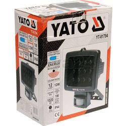Yato Reflektor diodowy z czujnikiem ruchu 12w 12led / yt-81794 / - zyskaj rabat 30 zł
