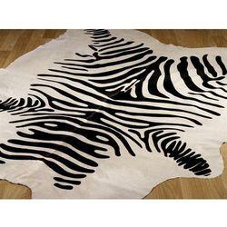 Arte Dywan skóra rodeo zebra white 180x230