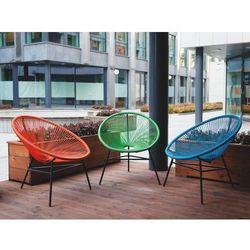 Zestaw 2 krzeseł rattanowych zielone ACAPULCO