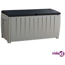 Keter Skrzynia ogrodowa novel storage box 340l szaro-czarny + zamów z dostawą jutro!