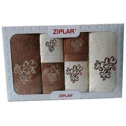 KOMPLET ręczników 6 szt. ZIPLAR ekri/ciemny beż, ZR02-2-20