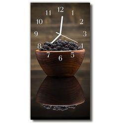 Zegar Szklany Pionowy Kuchnia Jeżyny owoce kolorowy, kolor wielokolorowy