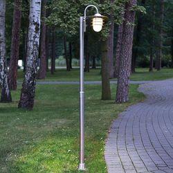 Wygięta latarnia mian ze stali szlachetnej marki Lampenwelt.com