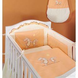 MAMO-TATO pościel 3-el Wesołe zajączki brzoskwiniowe do łóżeczka 70x140cm z kategorii komplety pościeli dla dzieci