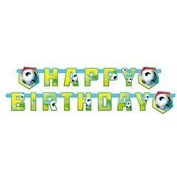 Baner urodzinowy happy birthday piłka nożna - 1 szt. marki Amscan