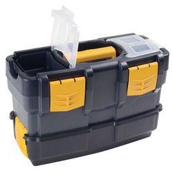 Plastikowe walizki na narzędzia z dodatkowym pojemnikiem (8010693048700)