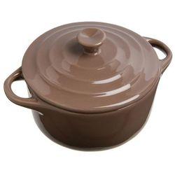 Ceramiczne naczynie do zapiekania deserów, dań - Ø 10 cm, kolor brązowy, 200 ml