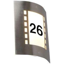 Lampa zewnętrzna Emmerald z czujnikiem zmierzchu i numerem domu - produkt dostępny w lampyiswiatlo.pl