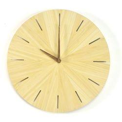 Woodway clock - cross- zegar ścienny bambus marki Woodwaycrafts