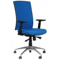 Krzesło biurowe obrotowe z podstawą aluminiową KB-8922B/ALU/NIEBIESKI, fotel biurowy, KB-8922B/ALU/NIEBIESKI