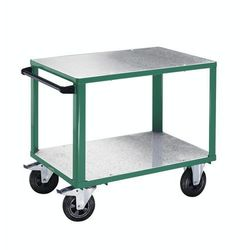 Wózek montażowy premium,2 powierzchnie ładunkowe z nakładkami z ocynkowanej blachy stalowej