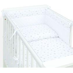 Mamo-tato 3-el pościel do łóżeczka 70x140 velvet pik - gwiazdki bąbelkowe szare / biały
