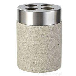 STONE Kubek na szczoteczki z konglomeratu Ecru 22010211 - produkt z kategorii- Kubki i szklanki