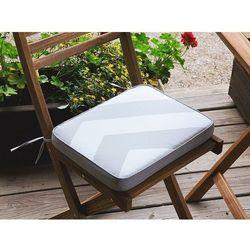 Beliani Poducha na krzesło fiji w szaro-beżowe zygzaki 29 x 38 x 5 cm