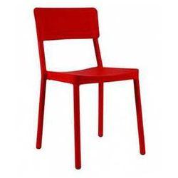 Krzesło do domu, ogrodu, na taras i balkon Resol Lisboa czerwone