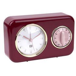 Zegar stojący nostalgia red z timerem kuchennym by marki Pt,