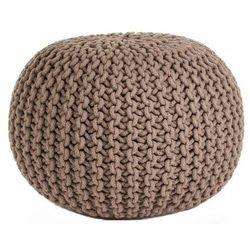Okrągły brązowy puf bawełniany - Gimi