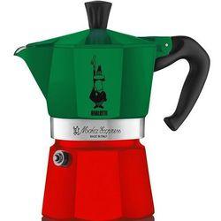 Bialetti Kawiarka moka express italia 6 tz zielono-czerwony darmowy transport (8006363018944)