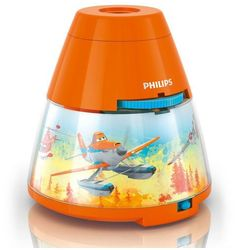 Philips Disney - lampka nocna projektor led pomarańczowy planes wys.11,8cm
