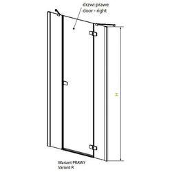 Radaway Fuenta New DWJS drzwi wnękowe jednoczęściowe prawe - 120 cm 384031-01-01R z kategorii Drzwi pryszni