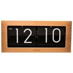 Nextime - zegar stojący big flip - miedziany