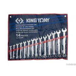 King tony Zestaw kluczy płasko-oczkowych 14cz. 10 - 32mm 1214mr (4710591957381)
