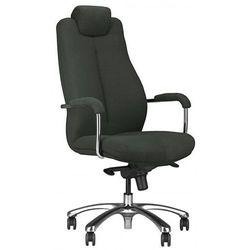 Nowy styl Fotel gabinetowy sonata lux 24/7 hrua steel17 chrome - biurowy z regulowanym zagłówkiem, krzes