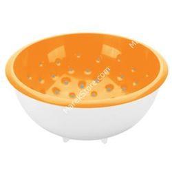 Tescoma Cedzak z miską - średnica o 20 cm pojemność 2 litry    vitamino - odcienie pomarańczowego, kategoria: durszlaki, cedzaki i sitka