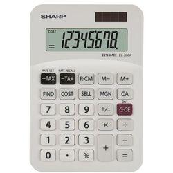Kalkulator el330fb biały marki Sharp