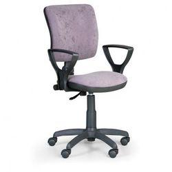 Krzesło biurowe MILANO II z podłokietnikami - szare