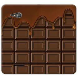 Flex Book Fantastic - Sony Xperia E4g - etui na telefon Flex Book Fantastic - tabliczka czekolady z kategorii