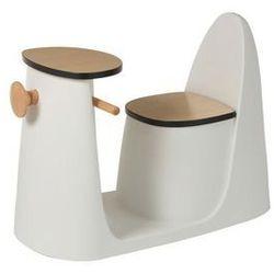Stolik-krzesło skuter dziecięcy biały marki J-line