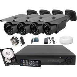 Monitoring Zestaw 4 Kamery FullHD 2Mpx IR30m IP66 - sprawdź w wybranym sklepie