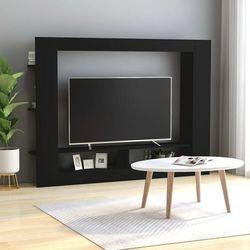szafka telewizyjna, czarna, 152 x 22 x 113 cm, płyta wiórowa marki Vidaxl