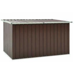 Brązowa skrzynia ogrodowa ze stali - Delto