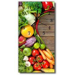 Tulup.pl Zegar szklany pionowy kuchnia warzywa drewno kolorowy