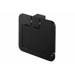 Uchwyt wc z klapką Futura black 02961 Bisk