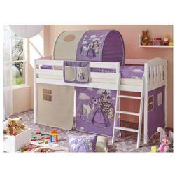 Ticaa łóżko z drabinką eric v sosna biały, konik (fioletowy) marki Ticaa kindermöbel