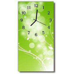 Zegar Szklany Pionowy Sztuka Abstrakcja grafika zielony, kolor zielony