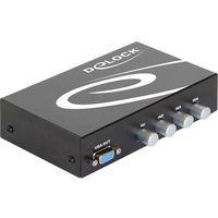 Delock Adapter av  vga 4 port with audio (87636) darmowy odbiór w 20 miastach! (4043619876365)