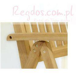 Krzesło drewniane - Składane krzesełko - 5 stopniowa regulacja - produkt z kategorii- Krzesła ogrodowe