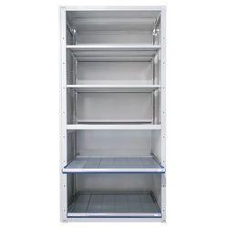 Regał z szufladami, 3 półki uniwersalne, 2 półki przestawne, 2 półki wysuwane, p