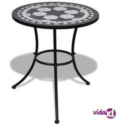 stolik mozaikowy 60 cm czarno-biały marki Vidaxl