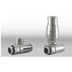 Zestaw zawór termostatyczny z trójnikiem pod grzałkę chrom - produkt z kategorii- Zawory i głowice