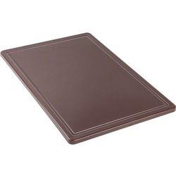 Deska do krojenia haccp 600x400 mm, z wycięciem, brązowa | , 341636 marki Stalgast